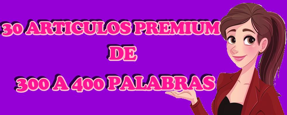 30 Artículos Premium de 300 a 400 Palabras