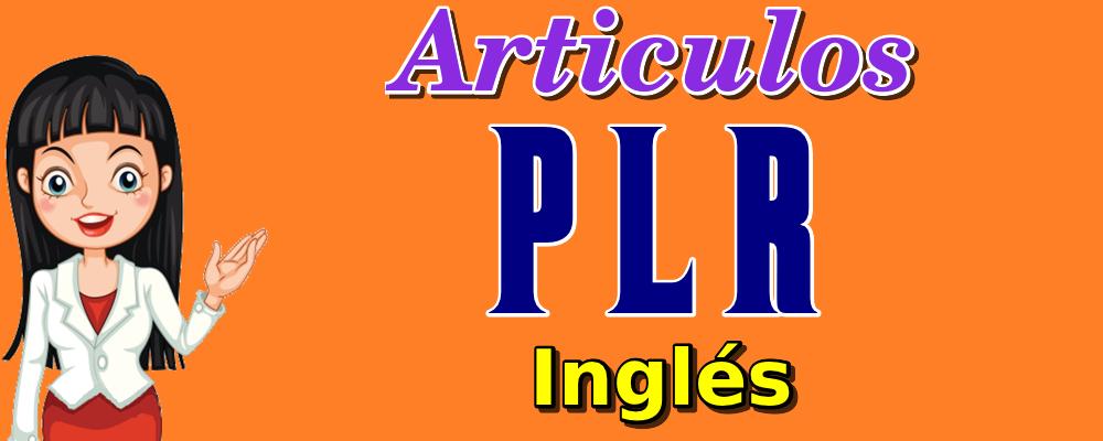 Artículos PLR en Inglés