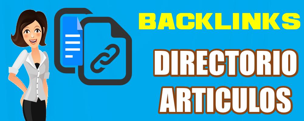 Publicación de Backlinks en Directorio de Artículos