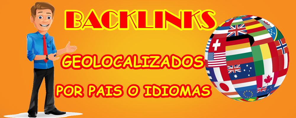 Backlinks geolocalizados por país o idioma