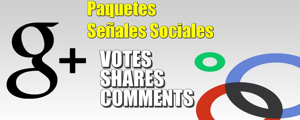 Paquete de Votes, Shares y Comments de Google Plus