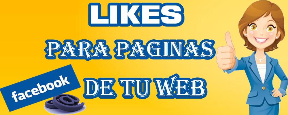 Facebook Likes / Me Gusta para Páginas de tu Sitio Web o Blog