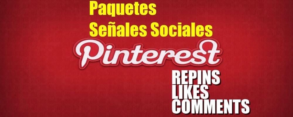 Paquete de Repins, Likes y Followers de Pinterest