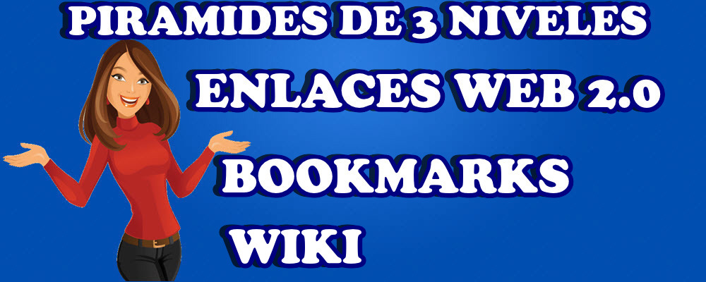 Piramide de 3 niveles con enlaces en Web 2.0, Bookmarks y Wiki