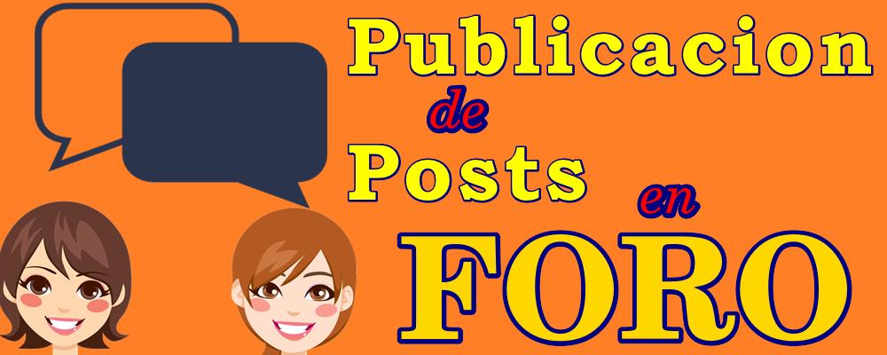 Publicación de Posts en tu Foro