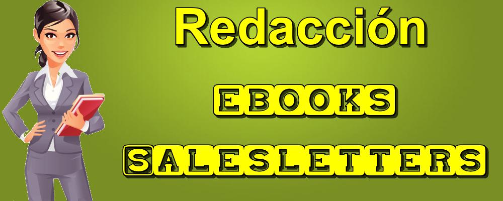 Redacción de eBooks y Cartas de Venta (Salesletters)