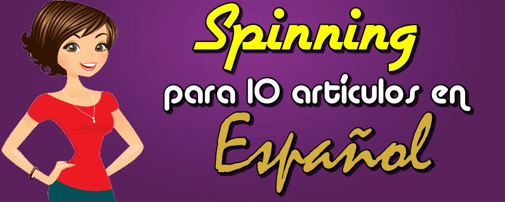 Spinning para 10 Artículos de 400 Palabras en Español