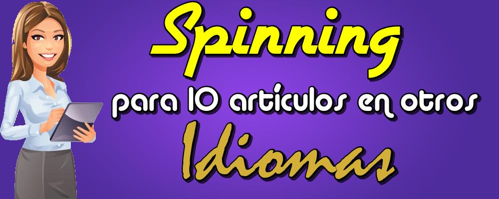 Spinning para 10 Artículos de 500 Palabras en Otros Idiomas