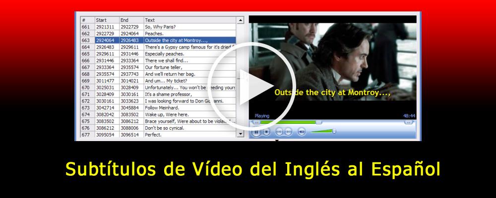 Subtítulos de Vídeo del Inglés al Español