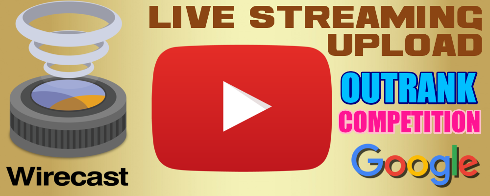 Wirecast Live Streaming YouTube Video Upload