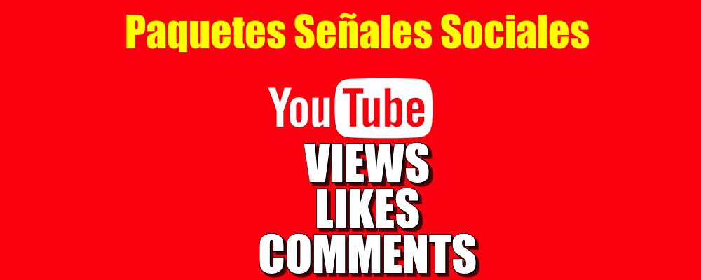 Paquete de Views, Likes y Comments de YouTube